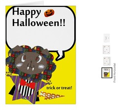 Happy Halloween Cute Draculion Card (HappybeeColorfulLife2016) Tags: happy halloween cute draculion card custominvitationcards littlelion animallogo greeting trickortreat halloweenspell specialholidays october31 patchworkedhair redribbontie arrowshapedtail sharpclaws sharpfangs pumpkinghostevilysmiling