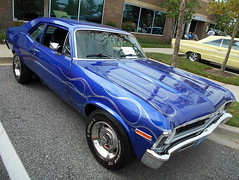 1972 Chevy Nova (splattergraphics) Tags: 1972 chevy nova flames carshow baltimorecountypoliceexplorers baltimoremd