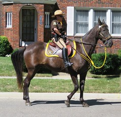 Monroe County Sheriff (Hear and Their) Tags: good old days parade richmond michigan heroes honouring honoring police mounted horse equestrian