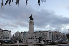 Marques De Pombal,Lisbon,Portugal (SujithPhotography) Tags: street portugal statue traffic lisboa lisbon famous marquesdepombal