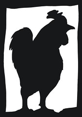Chicken Papercut (Calzephyr) Tags: chickens silhouette artwork nobody papercut scherenscnitte
