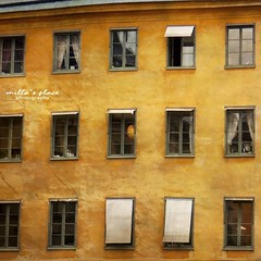 The Light Behind the Window (Milla's Place) Tags: windows facade awning sweden stockholm textures gamlastan oldtown textured