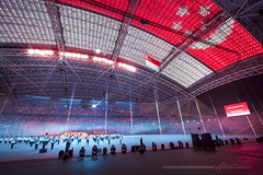28th South East Asia Games Singapore 2015 (Albert Photo) Tags: show seagames singapore play flag performance band opening act singaporesportshub 28thsoutheastasiagamessingapore2015
