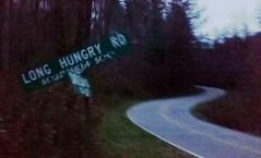 Distant Echo of the Trail of Tears (oldoinyo) Tags: road street sign dark northcarolina gloom
