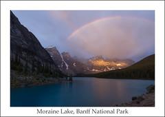 A Beauty of a Morning ... (ken.krach (kjkmep)) Tags: lakemoraine banffnationalpark rainbow