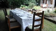 Djeuner  au jardin - Plouhinec - Finistre - t 2016 (jeanyvesriou1) Tags: djeuner lunch jardin garden tablededjeuner djeuneraujardin lunchinthegarden