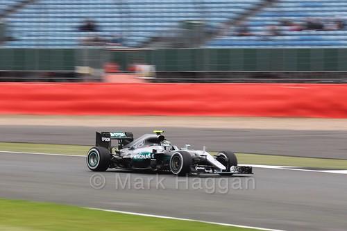 Nico Rosberg in his Mercedes in Free Practice 1 at the 2016 British Grand Prix