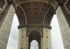 Arc de Triomphe (AntyDiluvian) Tags: street trip paris france wet rain champselysees arch arc underside arcdetriomphe etoile 2015