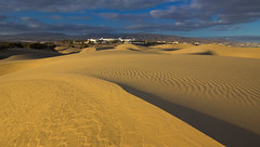 Evening dunescape (snowyturner) Tags: canaries dunes evening maspalomas ripples wind landscape clouds