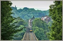 Less is Mawr? (david.hayes77) Tags: colas tug class60 wales cefnmawr viaduct newbridge 6j37 2016 landscape logs wood trees woods deevalley 60085
