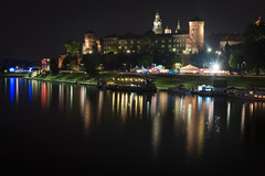 Wawel Castle (Angela Grant photography (Not enough hours in the ) Tags: wawel castle krakw cracow poland europe travel photography night river long exposure historic buidling architecture history nikon d810 nikkor2870mm