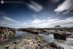 Castle Bamburgh, Northumberland (Silent Eagle  Photography) Tags: sep silent eagle photography silenteaglephotography canon canoneos5dmarkiii castle castlebamburghnorthumberland sky longexposure rocks shadows clouds northeast sea seascape blue beautiful nice silenteagle09 iso50 lee filter