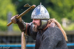 Wuffa and Herigeas Hundas - History Live 2016 (harrison-green) Tags: castle english heritage history animal sport canon eos living war outdoor sigma medieval age historical alive viking society reenactment reenactors siege saxon hundas anglo vikingr 18250mm 700d wuffa heringas herigeas