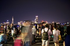 Boston July 4 (Eachan J) Tags: cambridge light people blur boston night purple fireworks crowd