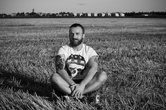 Luglio 2016 (Kumo Moku) Tags: ritratto portrait 1almese bear beard scruff outdoor blackandwhite