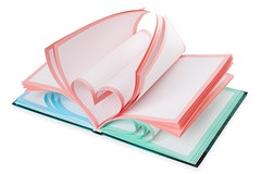 Notebook and heart symbol | Isolated (InGravityLAB) Tags: heart love concept conceptual isolated white pages paper education background note book pad notebook notepad object day page symbol valentine valentines sign metaphor idea shape abstract color colour pink red green blue colorful creative design romantic clipping path college data diary knowledge learn learning open school sheet saint passion blank