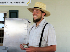 Big Smile (Multielvi) Tags: green dragon market ephrata pennsylvania pa lancaster county mennonite amish vendor smile beard candid man
