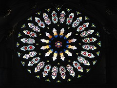 Gothic light (2) (Szymek S.) Tags: rosette window glass stainedglass chapterhouse church cathedral minster yorkminster architecture gothic york yorkshire england greatbritain unitedkingdom