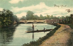 Over the Wey (mgjefferies) Tags: england surrey weybridge wey river 1911 riverwey punt