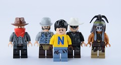 The nasty movie (Alex THELEGOFAN) Tags: lego the lone ranger 79110 silver mine shootout movie disney tonto chief big bear kyle outfit butch cavendish nasty nesquik legography