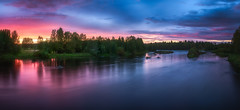 River Kiiminkijoki sunset 11.8 (M.T.L Photography) Tags: landscape wideangle clouds sunrise sunset horizon early water trees nordic color copyright morning night drama dramatic smooth finland suomi nikond810 nikkor1424 mtlphotography