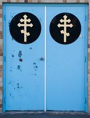 Doors to Heaven (jcAOY) Tags: pringle luzerne nepa graveyard orthodox grassroof nikond700 50300