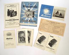 Die Wundervolle Plaubel Makina (Arne Kuilman) Tags: plaubel camera brand extras information documentation material plaubelfeinmechanikundoptik folders einmeisterstck