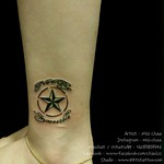 Star/ Wording Tattoo