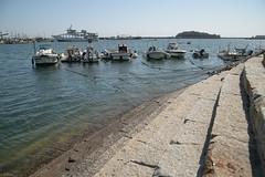 old harbor city / Tomonoura #16 (kasa51) Tags: port harbor fishingboat sea pier wharf tomonoura japan 鞆の浦 雁木