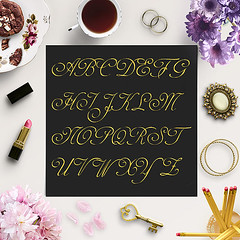 Glitter Alphabet Clip Art (northseastudio) Tags: clipart etsy gold letters shiny