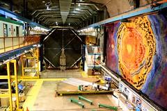 MINOS Far Detector (Marianna Gabrielyan) Tags: color canon mural lab mine laboratory detector physics prize cavern nobel soudan minos neutrino oscillations xti canon1855mmf3556 400d
