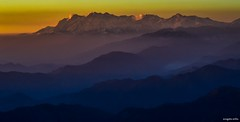 Himalaya (Sougata2013) Tags: sunset india mountain colors landscape hill himalaya mandi himachalpradesh nikond3200 himalayanrange dhauladhar dhauladharrange prasharlake