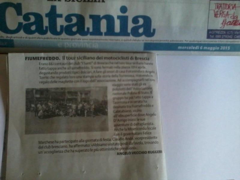 Giornale di Catania _ aprile 2015_ Run della sicilia