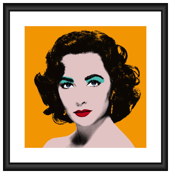 Liz Taylor Portrait Orange