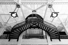 Stairs at The Rookery (Josh Thompson) Tags: chicago architecture stairs franklloydwright rookery sigma1020mmf456exdc burnhamandroot d7000 lightroom5