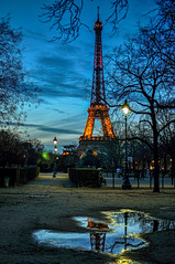 Tour Eiffel, Paris (Mattia Pianca) Tags: city travel blue sky urban paris france reflection tree tower water night 35mm painting lights nikon iron soft torre tour image blu details ngc quadro eiffel tourist awsome cielo hour luci dettagli bluehour nikkor f18 35 riflessi francia viaggio notte sera citt cornice parigi turista riflesso ferro 2016 d90 skyporn nikkor35 nikkor35mm