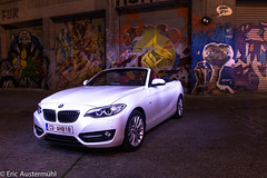 BMW meets E.T. (eaustermhl) Tags: light brussels lightpainting car night dark grafitti et longtimeexposure canoneos6d bmw2ercabrio