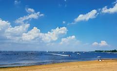 Onshore Destination (hpaich) Tags: keyport nj jersey newjersey summer raritan bay water beach shore coast coastal seadoo sky skies cloud