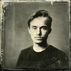 [rM] Collodion 2 ([Eric OLIVIER]) Tags: wetplate wet plate collodion ambrotype 18x18cm industar i13 30cm f45 portrait chapeau jeune homme fille young studio strobe 1200w flash