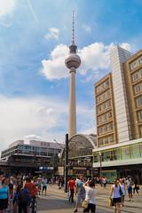 Der Fernsehturm vom Alexanderplatz (crsye) Tags: berlin kurfrstendamm brandenburger tor judendenkmal siegessule tiergarten potsdamer platz