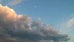 Clouds (Perutio) Tags: blue sunset sky cloud moon white clouds nuvole nuvola blu natura luna cielo bianco halfmoon