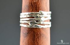 Add some whimsy and (alaridesign) Tags: add some whimsy flash silver your life with these unique thin pure freeform stacking rings i hand make each ring order out 999 alari