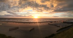 Panoramic Zandvoort (yfarahi) Tags: sunset sea summer sky apple netherlands clouds photography untouched epic zandvoort yasser iphone epicsky farahi shotoniphone iphone6s