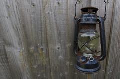 Rusty Lamp (shaunbu13) Tags: rust lamp lantern wood fence blue
