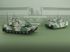 New Model Army - Part I (Aleksander Stein) Tags: lego military leopard 2 main battle tank mbt hagglunds cv90 infantry fighting vehicle ifv ndc nordic defence council lmm contest 2016