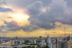 Bangkok afternoon . (Ammar Crazzy) Tags: sunset cloud sun 35mm thailand cloudy bangkok sigma thai bkk partlycloudy d810 35mm14