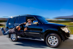 A Lazy Friday Afternoon (Richard Sollorz Photography) Tags: motion composite speed photoshop fun photography drive driving image father levitation son richard layers mitsubishi pajero sollorz