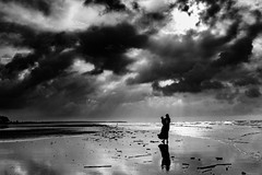 """To hear the softly spoken magic spells"" (Kaushik..) Tags: sea beach photography nikon 7100 near d seabeach portraitpeople indiapeople beachphotos mandarmani beachindian indiatapestry kaushiknikon kolkatasea kolkatamandarmani mandarmanimonochromemonochorome"