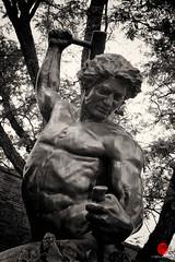The Self-Made Man (Mark Kaletka) Tags: sculpture illinois artwork public art bronze batavia unitedstates us