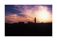 Vuurtoren () Tags: nikonf80 fujichrome velvia 50 slidefilm filmisnotdead eveninglight evening sunset afd50mmf18 nederland texel vuurtoren lighthouse